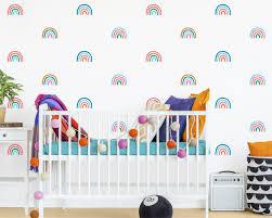 Rainbow Decals 4 Color Rainbow Stickers Rainbow Decor Colorful Wall Decor Wall Stickers Kids Room Decor Rainbow Vinyl Wall Decals