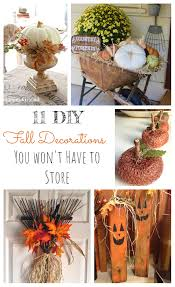11 Diy Fall Decorations You Won T Have To Store Little Vintage Cottage