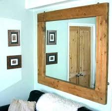 wood frame rustic wood wall mirror