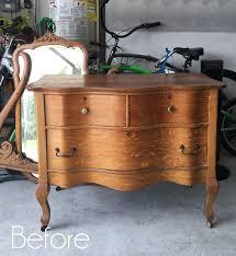 antique serpentine dresser makeover