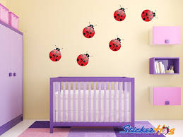 Ladybugs Girls Nursery Room Vinyl Wall Decals