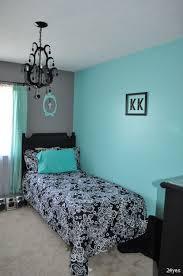 bedroom dark grey and teal bedroom