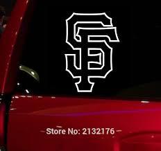 Mlb Sf Giants Auto Window Sticker Decal For Car Truck Suv Decal 5 5 Buy Fan Gear