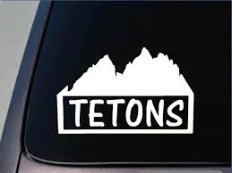 Tetons Sticker 8 Vinyl Yellowstone Park Grand Tetons Mountains Ski Moose Window Sticker Stickers Aliexpress