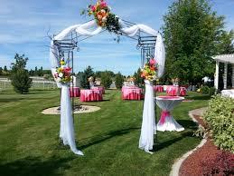 wedding garden arches white iron