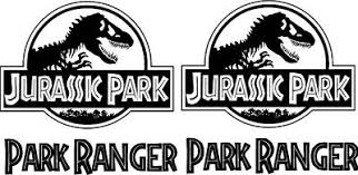 Jurassic World Jeep Safari Dinosaur Bumper Window Sticker Vinyl Decal Rainbowlands Lk