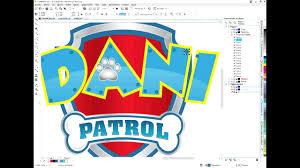Logo Paw Patrol Editable Youtube