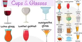 glassware list of cups and glasses
