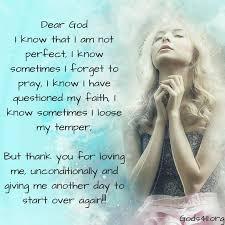 dear god i know that i am not perfect mom prayers prayer