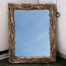 rectangle driftwood mirror