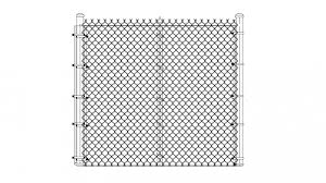 Chain Link Fence Elevation Drawing Details Dwg File Cadbull