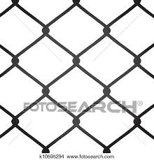 Chain Link Fence Vector Clipart K10595294 Fotosearch
