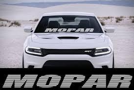 Product Mopar Car Truck 40 X4 Windshield Vinyl Srt Hellcat Banner Decal Sticker