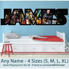 Childrens Name Wall Stickers Art Personalised Star Wars For Boys Girls Bedroom 122285931165