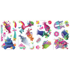 Roommates 5 In W X 11 5 In H Shopkins 39 Piece Peel And Stick Wall Decal Rmk3154scs The Home Depot
