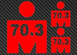 Ironman 70 3 Vinyl Sticker Decal Triathlon Tri 140 6 M Logo Iron Man Kona Hawaii Ebay