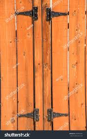 Knotted Wooden Picket Fence Gate Hinges Buildings Landmarks Stock Image 454967446