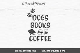 dogs books and coffee svg vector crafter file new svg