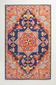 amerita orange navy persian rug