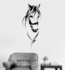Vinyl Wall Decal Race Horse Head Animal Pet Room Decoration Stickers U Wallstickers4you