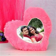 personalised pink heart pillow