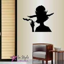 Vinyl Decal Silhouette Of African Woman Smoking Tobacco Pipe Wall Sticker 1396 Ebay