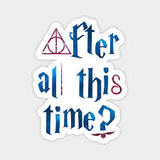 harry potter after all this time always symbols red and blue
