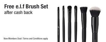 hot free e l f makeup brush set from