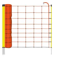 50m Voss Farming Electric Fence Netting Sheep Netting 90cm 1 Spike Orange
