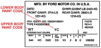 ford color guide car code plastikote