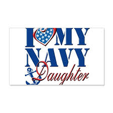 I Love My Navy Daughter Wall Decal By Magik Cafepress