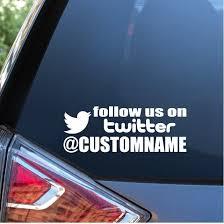 Twitter Name Window Decal Sticker Custom Sticker Shop