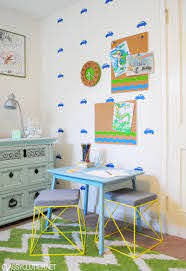 Diy Painted Cork Board And Kid S Art Station