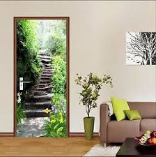 3d Forest Stairs 8 Door Wall Mural Photo Wall Sticker Decal Wall Aj Wallpaper Au Ebay