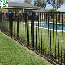 China Black 6ft Welded Tubular Steel Fence Safety Decorative Pool Fencing Australia China Pool Fence And Cheap Prefab Fence Panels Price
