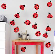 Nursery Ladybug Decal Nursery Wall Decal Murals Bug Wall Nursery Wall Decals Wall Mural Decals