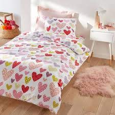 heart print cotton duvet cover
