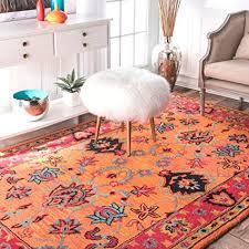 handmade overdyed persian orange wool