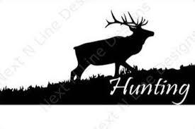 Hunting Elk Wildlife Sportsman Outdoors America Window Etsy