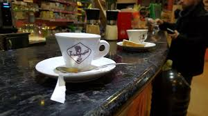 italian coffee drinks at a bar in italy