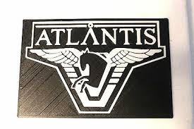 Stargate Atlantis 3d Printed Emblem Plastic Sticker Decal Sg1 Laptop Car Window Ebay