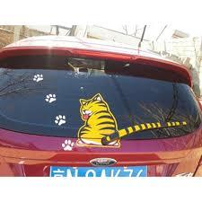 Car Rear Windshield Window Wiper Stickers Pet Cat Vinilos Para Autos Stickers Para Autos Capa Para Perro