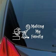 Makin My Family Sticker Funny Car Meme Stick Figure Family Lol Lulz Truck Ebay
