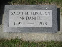 Sarah Melinda Bowman McDaniel (1897-1998) - Find A Grave Memorial