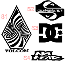 Free Your Choice Vinyl Decal Dc Quiksilver Volcom Roxy Billabong Element No Fear Adio Etnies Other Car Items Listia Com Auctions For Free Stuff
