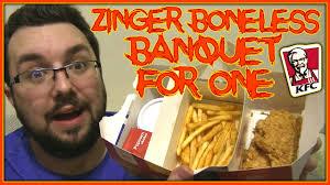 kfc zinger boneless banquet for one