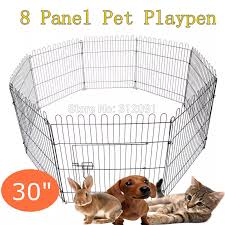 Australia Domestic Shipping 30 Black Metal 8 Panel Pet Cage Exercise Playpen Puppy Cat Rabbit Fence Fence Hardware Rabbit Setfence Alarm Aliexpress