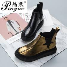 women boots black retro chelsea ankle