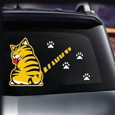 Reflective Car Rear Windshield Decal Cat Paw Tail Wagging Wiper Sticker Funny Us Auto Parts And Vehicles Car Truck Graphics Decals Magenta Cl