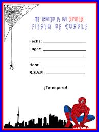 Invitaciones De Cumpleanos Del Hombre Arana Para Imprimir Imagui
